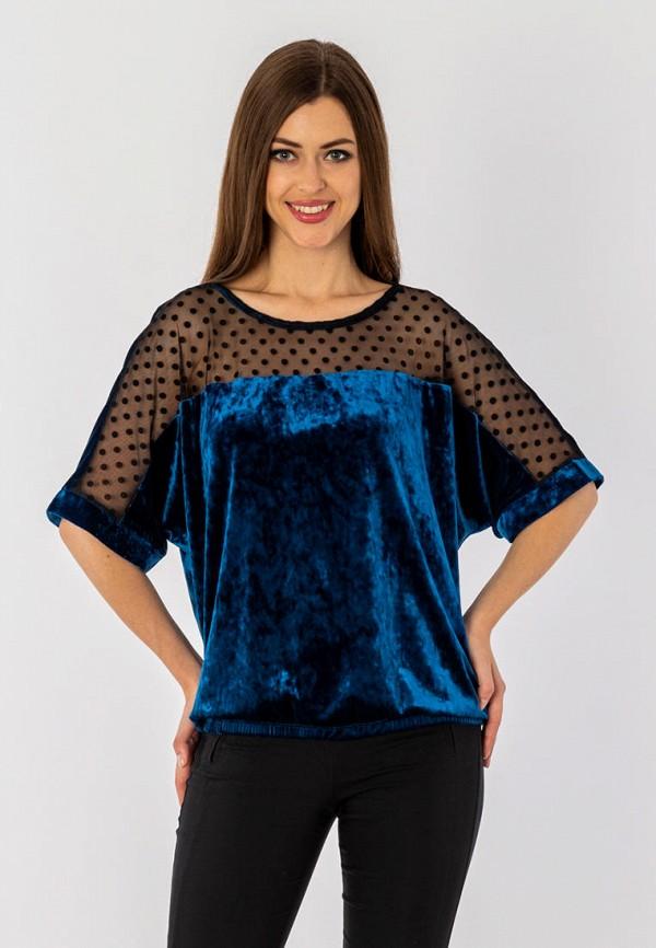 женская блузка с длинным рукавом s&a style, синяя