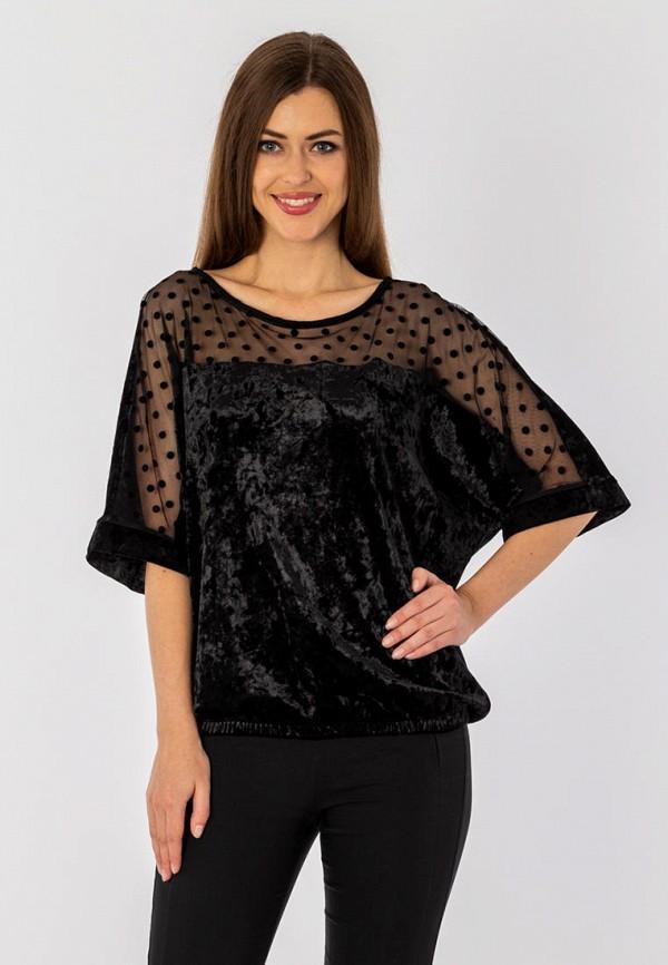женская блузка с длинным рукавом s&a style, черная