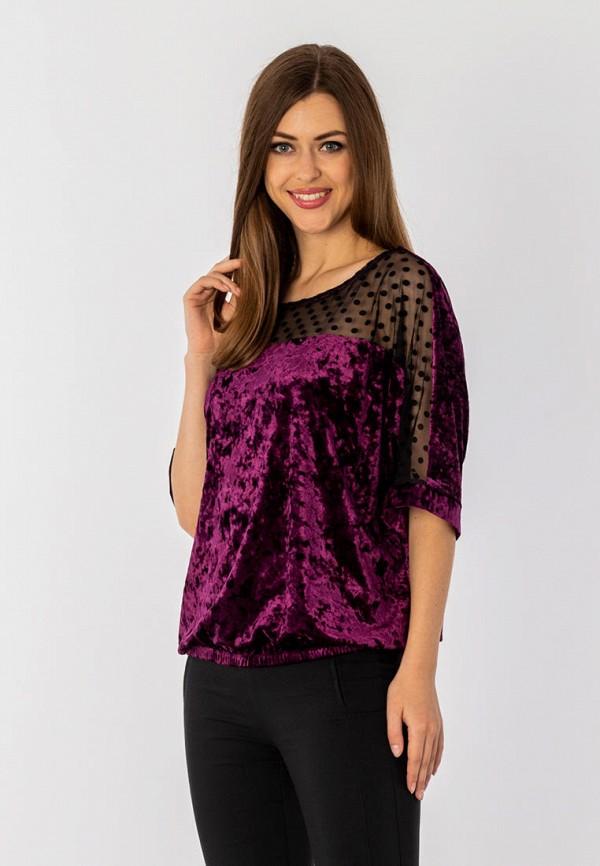 женская блузка с длинным рукавом s&a style, фиолетовая