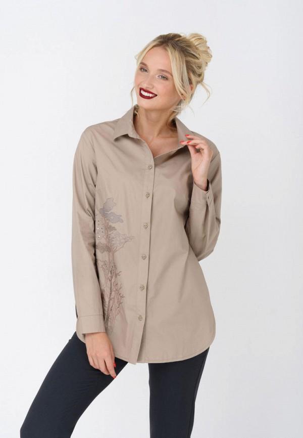женская блузка ricamare, бежевая