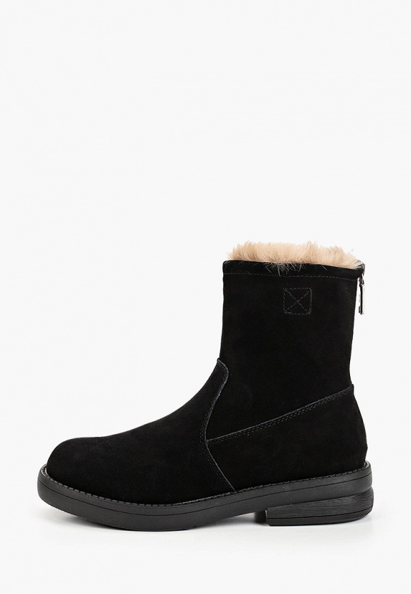 женские высокие ботинки v.i.konty, черные