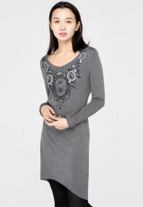 женское повседневные платье omero, серое