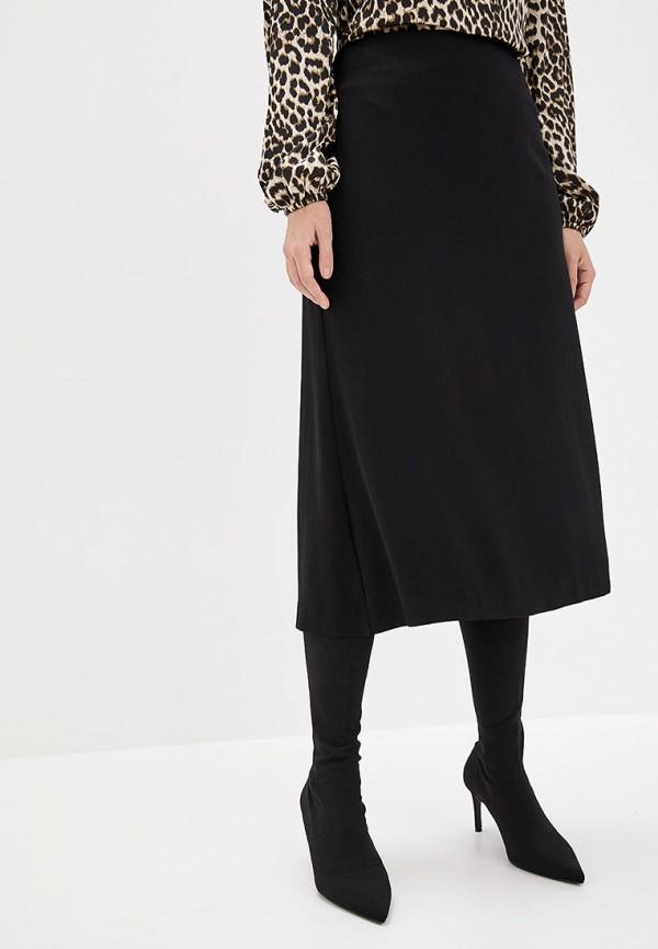 женская прямые юбка jhiva, черная