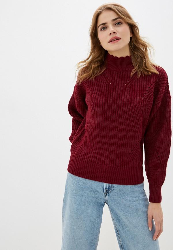 женский свитер leotex, бордовый