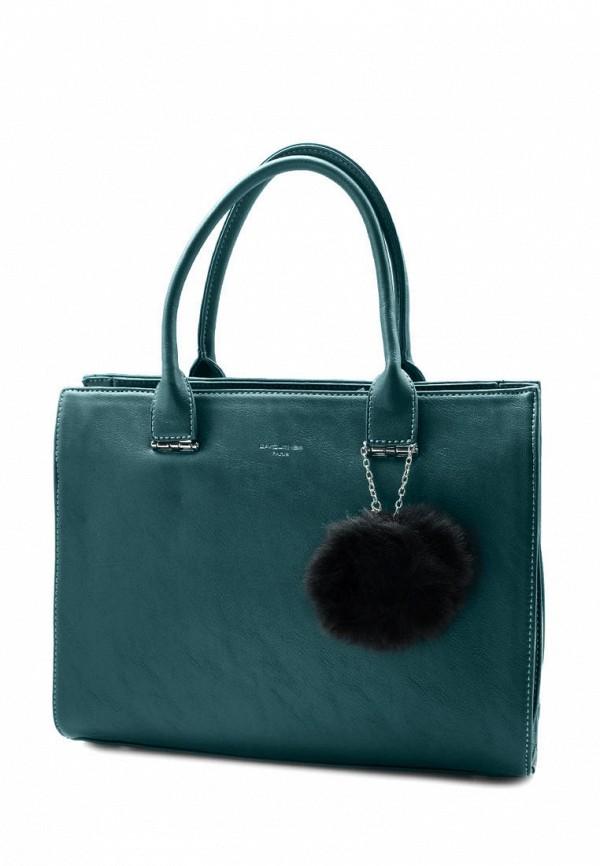 женская сумка david jones, бирюзовая