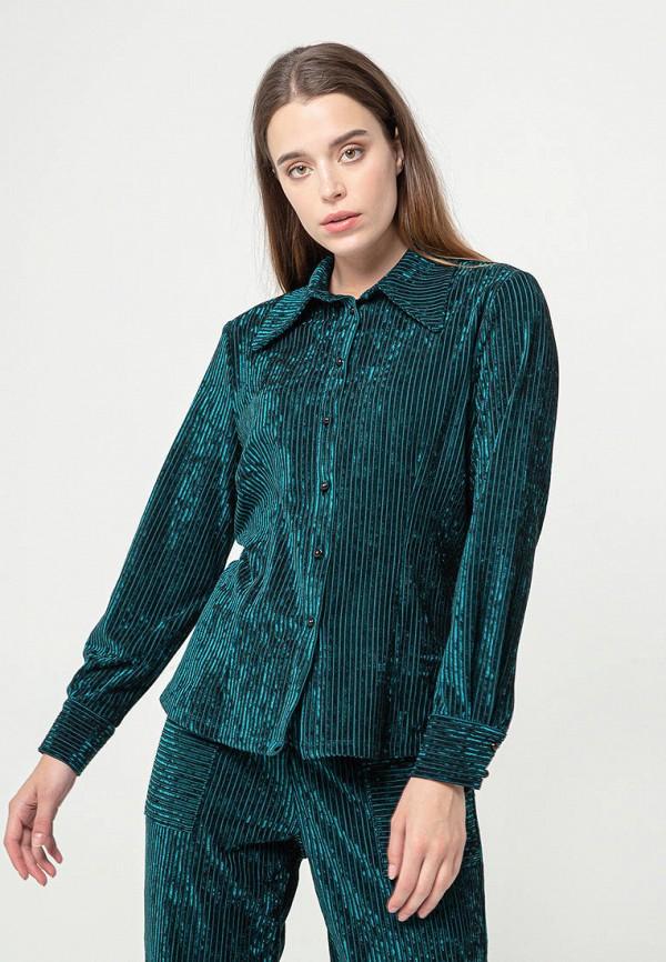 женская блузка bgn, зеленая