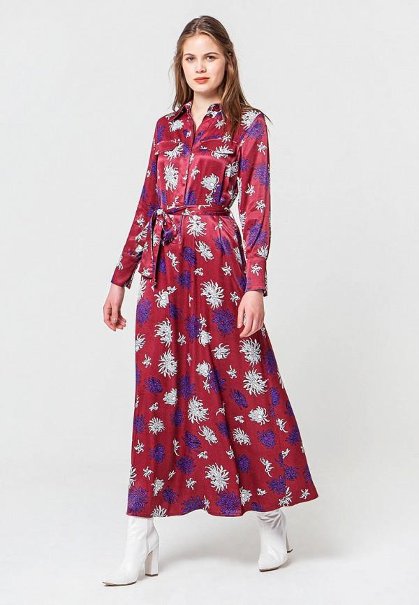 женское платье bgn, бордовое