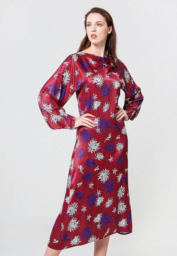 женское повседневные платье bgn, бордовое