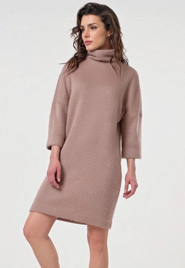 женское платье-свитеры fly, коричневое