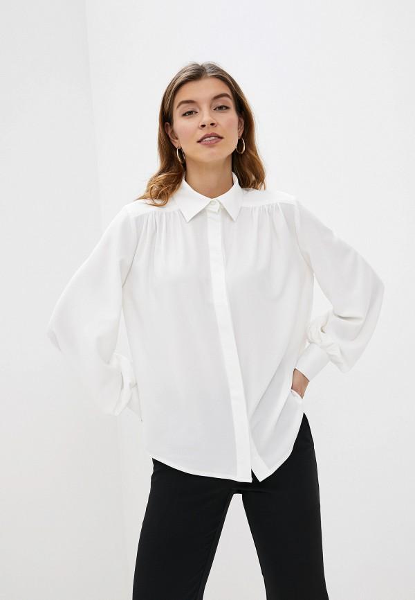 женская блузка с длинным рукавом gregory, белая
