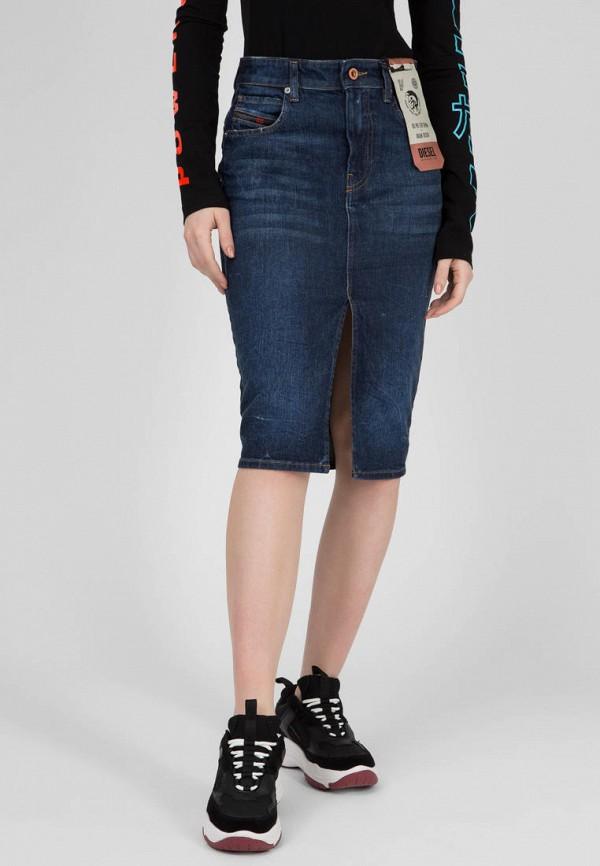 женская джинсовые юбка diesel, синяя