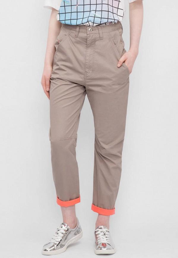 женские повседневные брюки diesel, бежевые