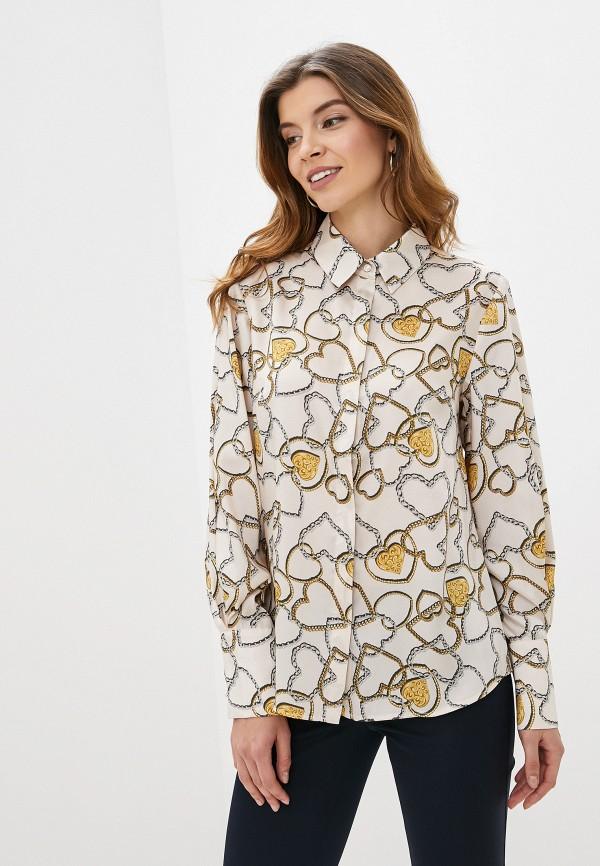 женская блузка с длинным рукавом antiga, бежевая