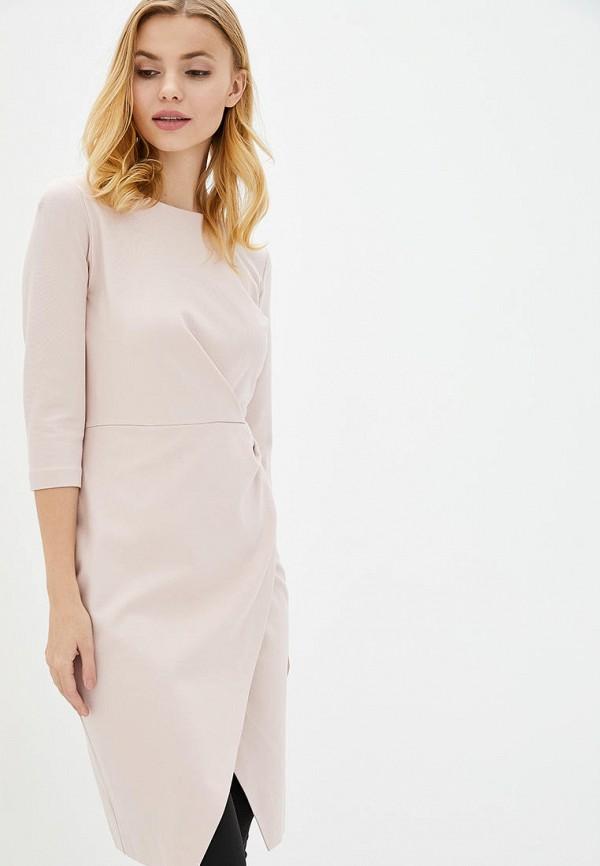 женское платье-футляр arefeva, бежевое