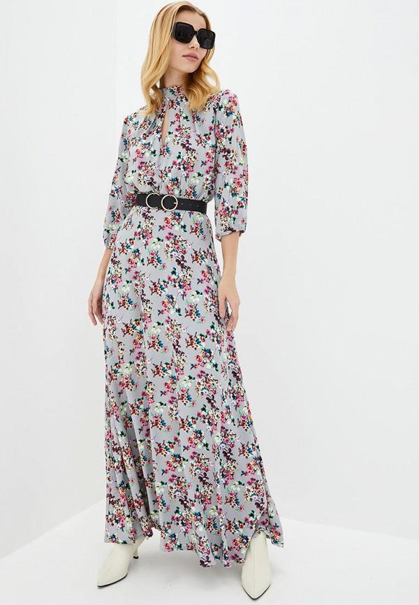 женское вечерние платье genevie, серое