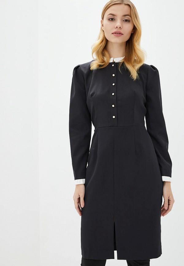 женское платье-футляр genevie, черное