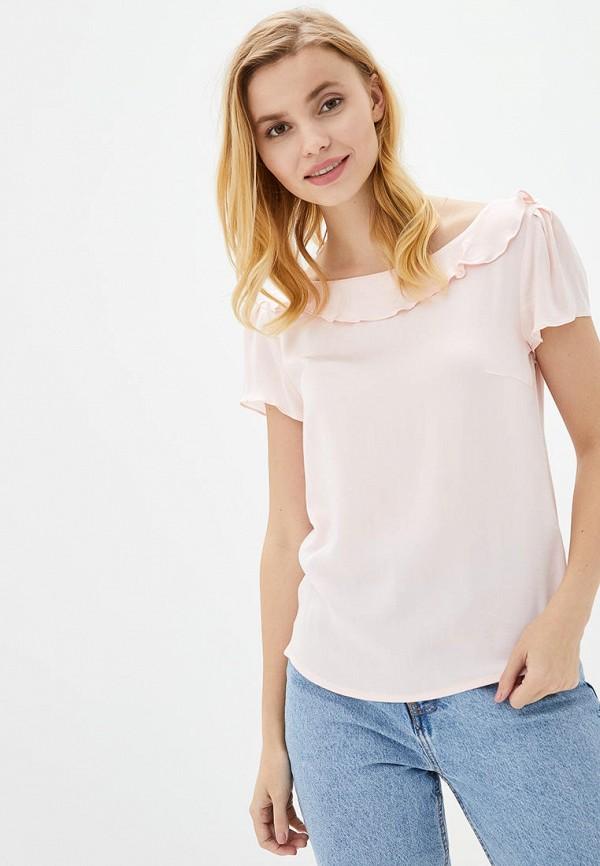 женская блузка genevie, розовая