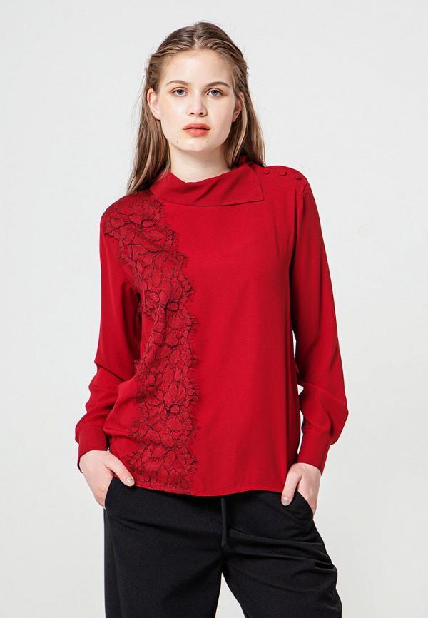 женская блузка bgn, бордовая