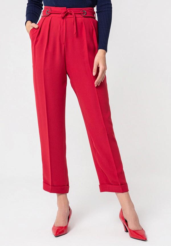 женские повседневные брюки bgn, бордовые