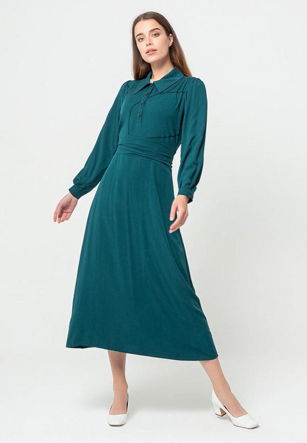 женское повседневные платье bgn, бирюзовое