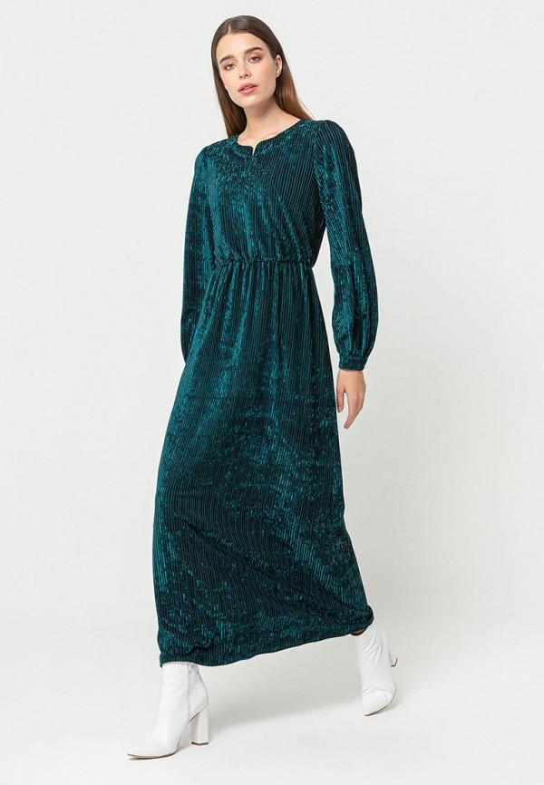 женское вечерние платье bgn, бирюзовое