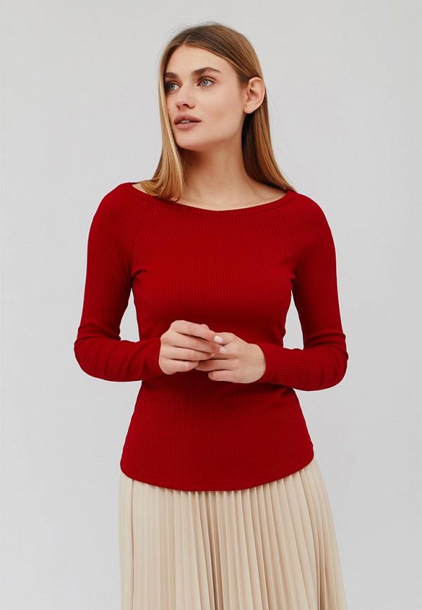 женский лонгслив cardo, красный