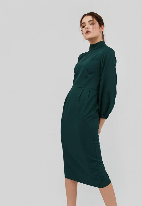 женское платье-футляр cardo, зеленое