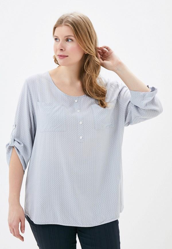 женская блузка с длинным рукавом grafinia, серая