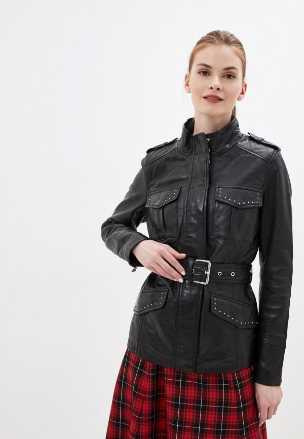 Куртка кожаная La Reine Blanche La Reine Blanche  черный фото