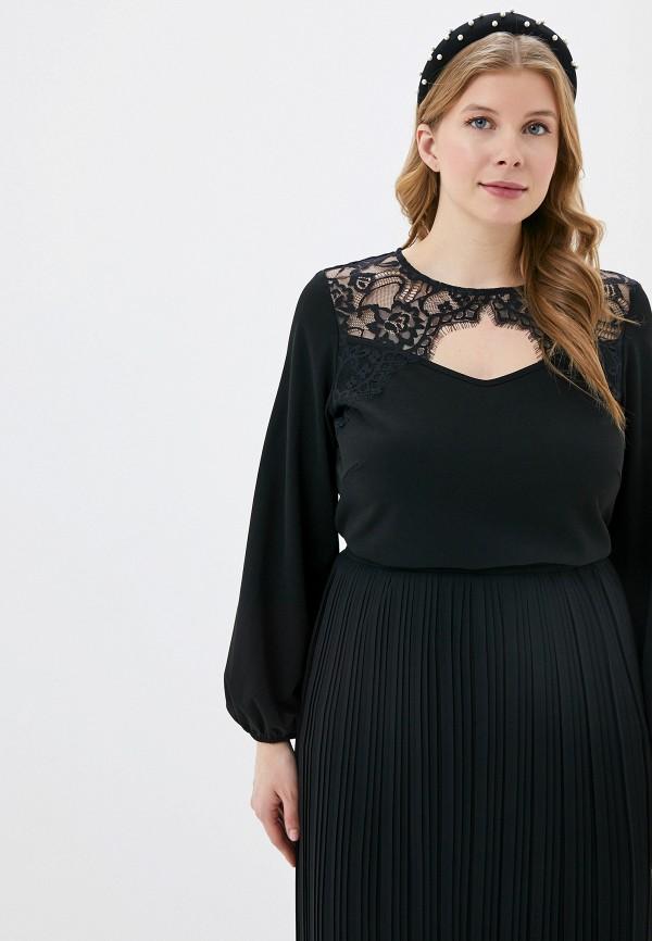 женская блузка с длинным рукавом svesta, черная