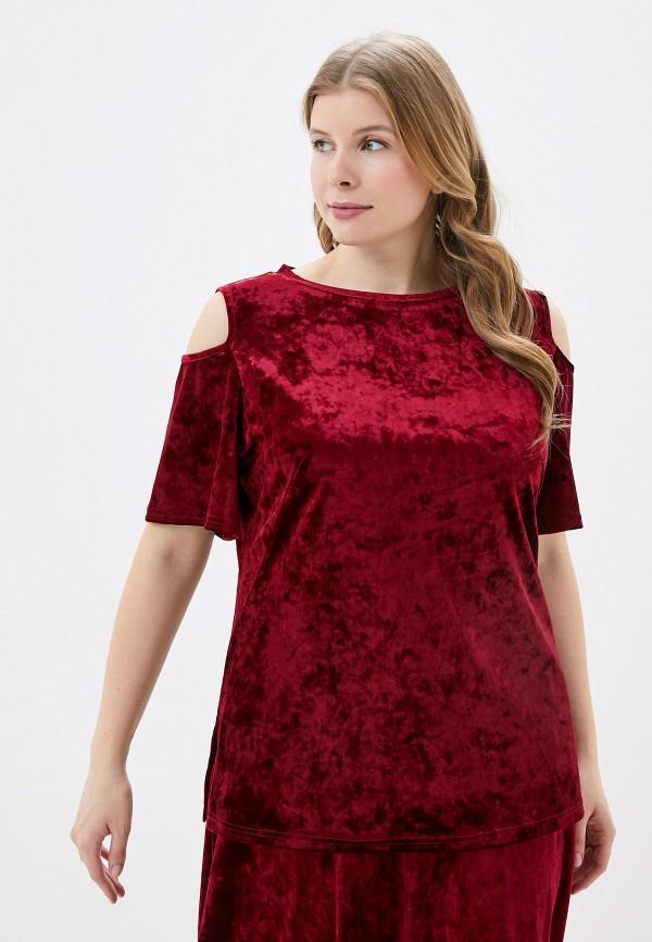 женская блузка с коротким рукавом svesta, бордовая