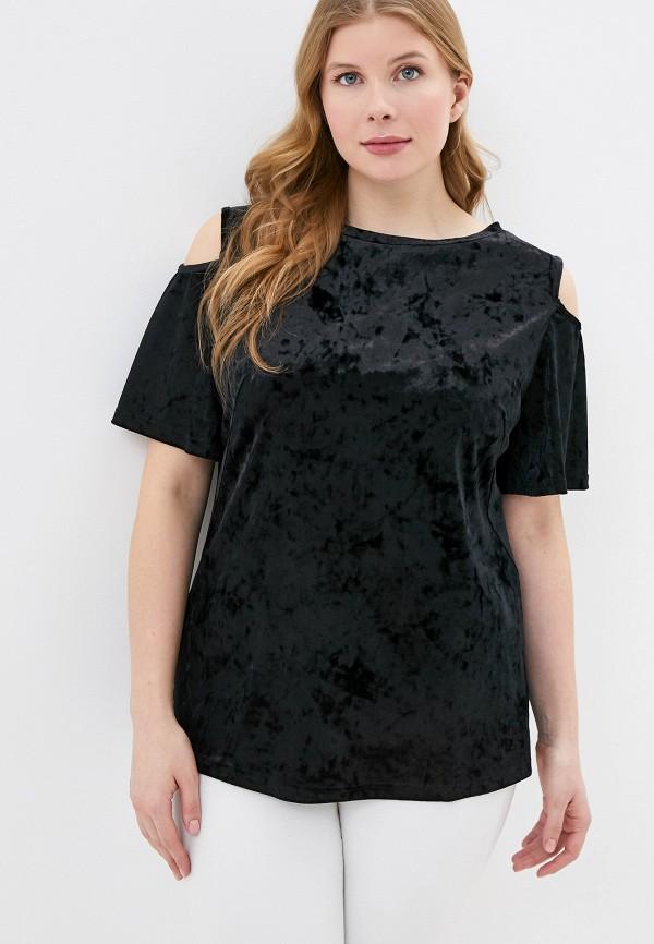 женская блузка с коротким рукавом svesta, черная