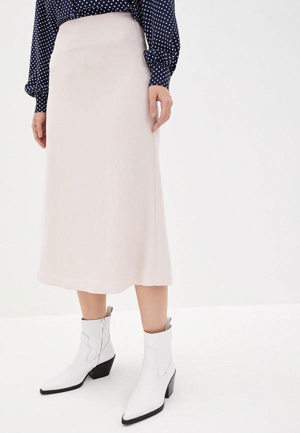 женская прямые юбка jhiva, бежевая