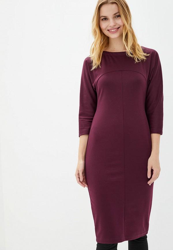 женское платье-футляр jhiva, бордовое
