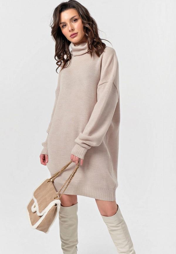 женское платье-свитеры fly, бежевое