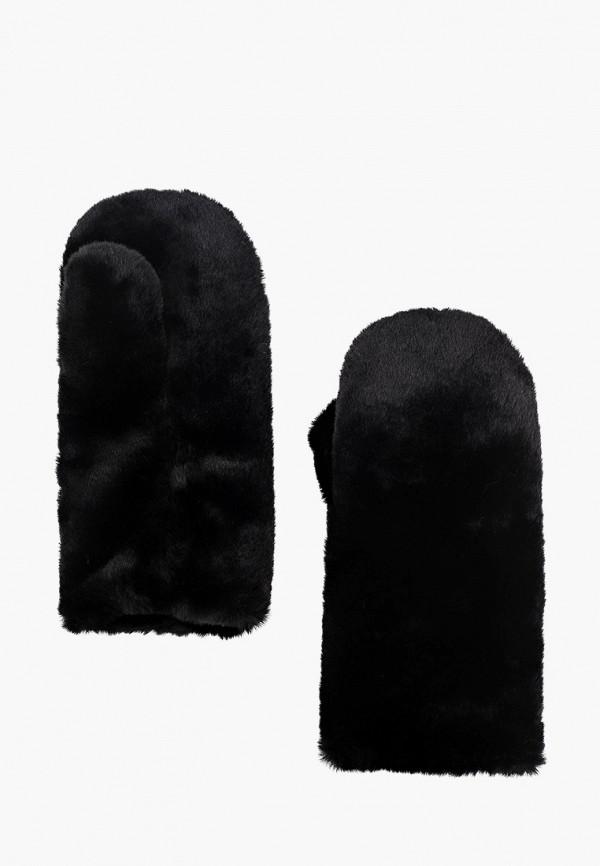 женские варежки moksi, черные