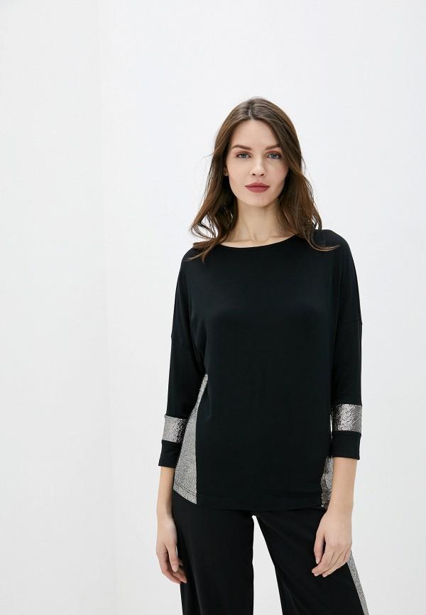 женская блузка с длинным рукавом lina, черная