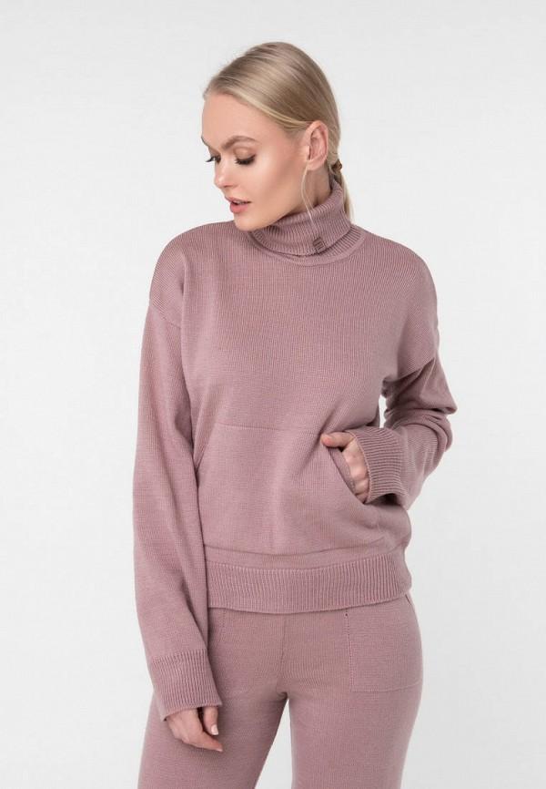 женская водолазка sewel, розовая
