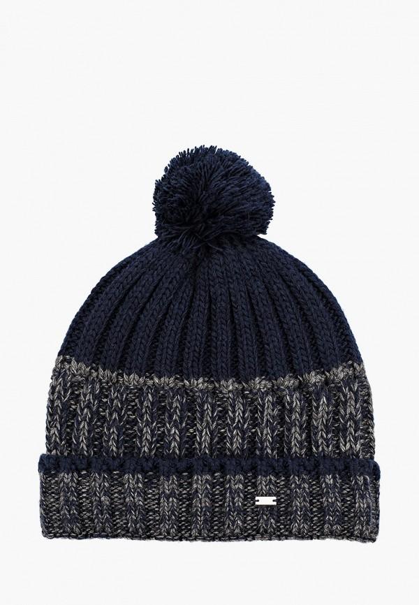 женская шапка u.s. polo assn, синяя