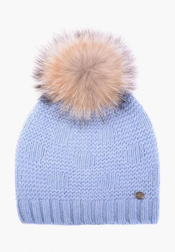 женская шапка mira adriana, голубая