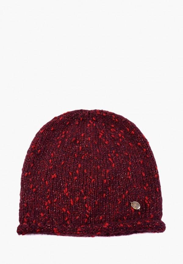 женская шапка mira adriana, бордовая