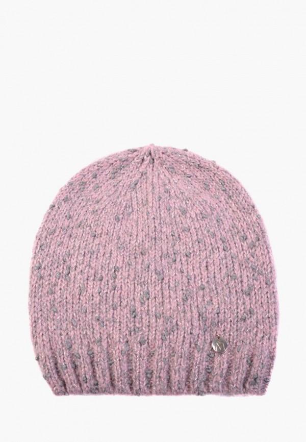 женская шапка mira adriana, розовая