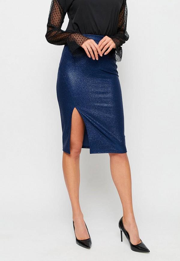 женская зауженные юбка karree, синяя