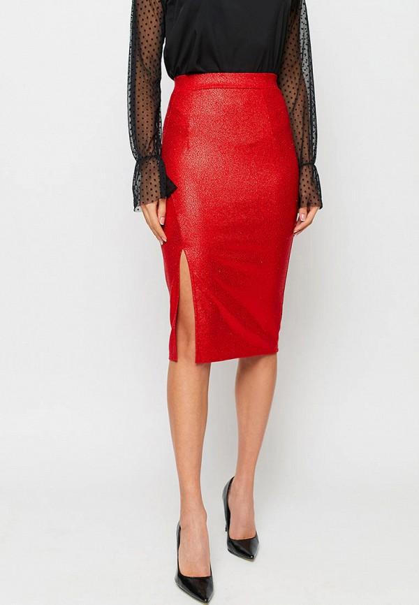 женская зауженные юбка karree, красная