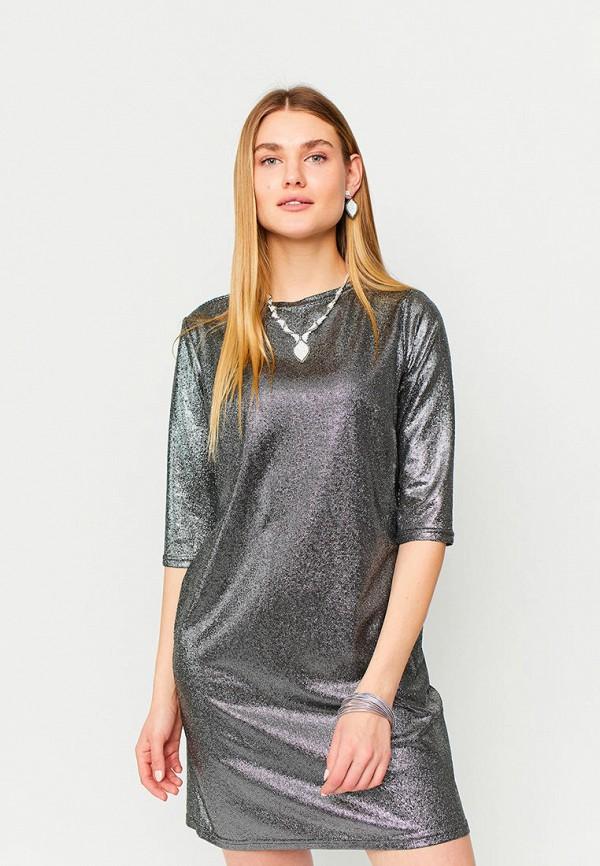 женское вечерние платье karree, серебряное
