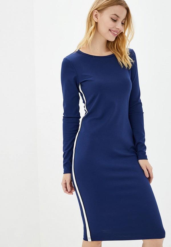 женское платье-футляр jhiva, синее