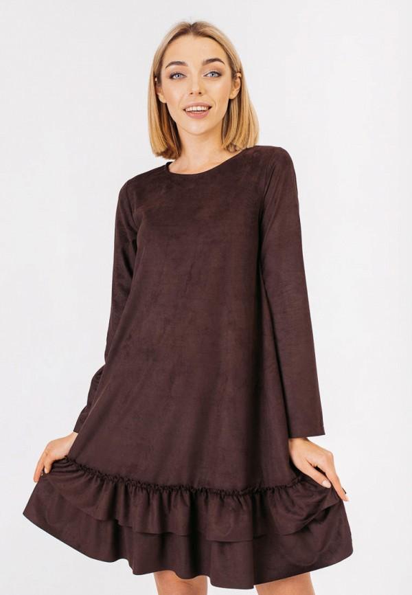 женское повседневные платье bessa, коричневое