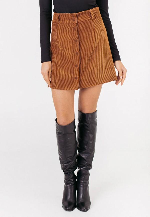 женская юбка bessa, коричневая