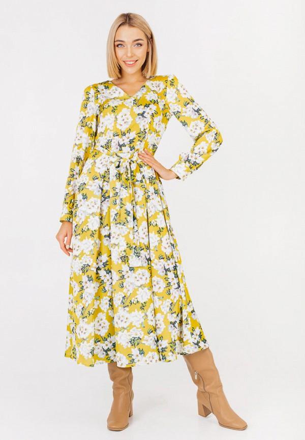 женское повседневные платье bessa, желтое