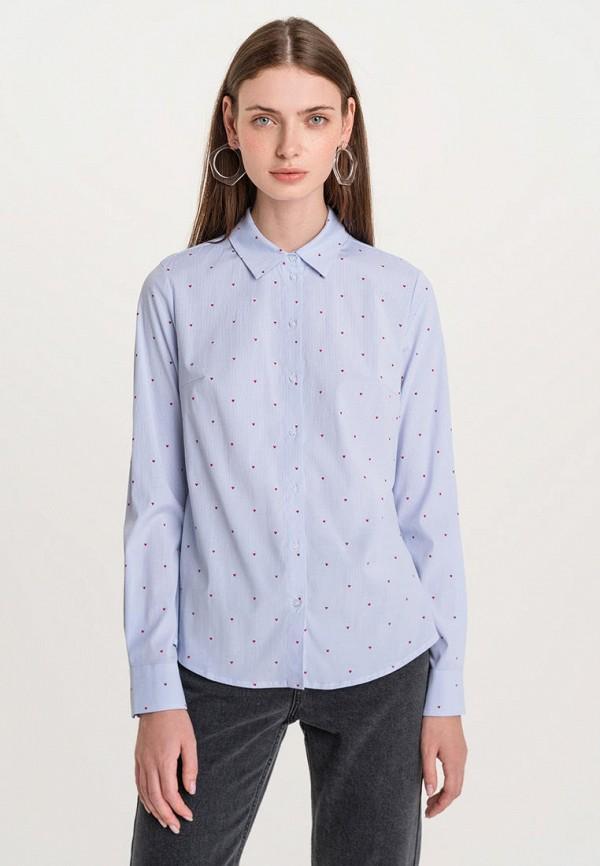 женская блузка с длинным рукавом befree, голубая